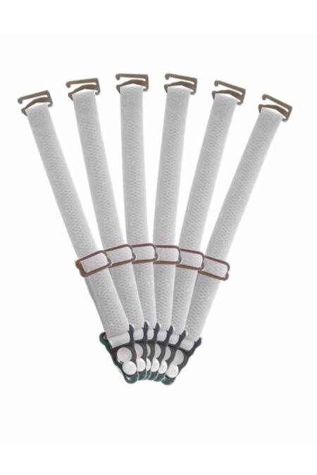 6 passende Strumpfhalter in Weiß für Voll, Halb und Unterbrust Korsetts